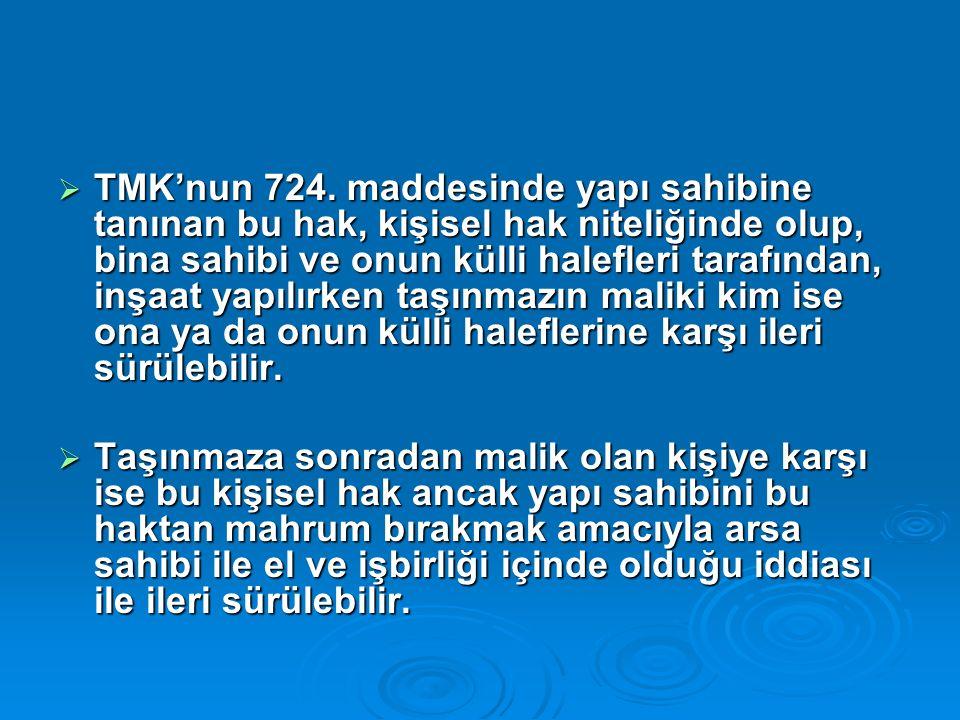  TMK'nun 724.