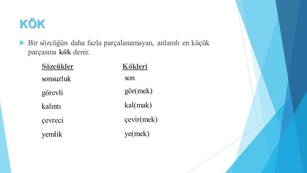 c) Tamlayan (İlgi) Eki  Ad tamlamalarında tamlayanın aldığı «-ın / -in» eklerine tamlayan eki denir.