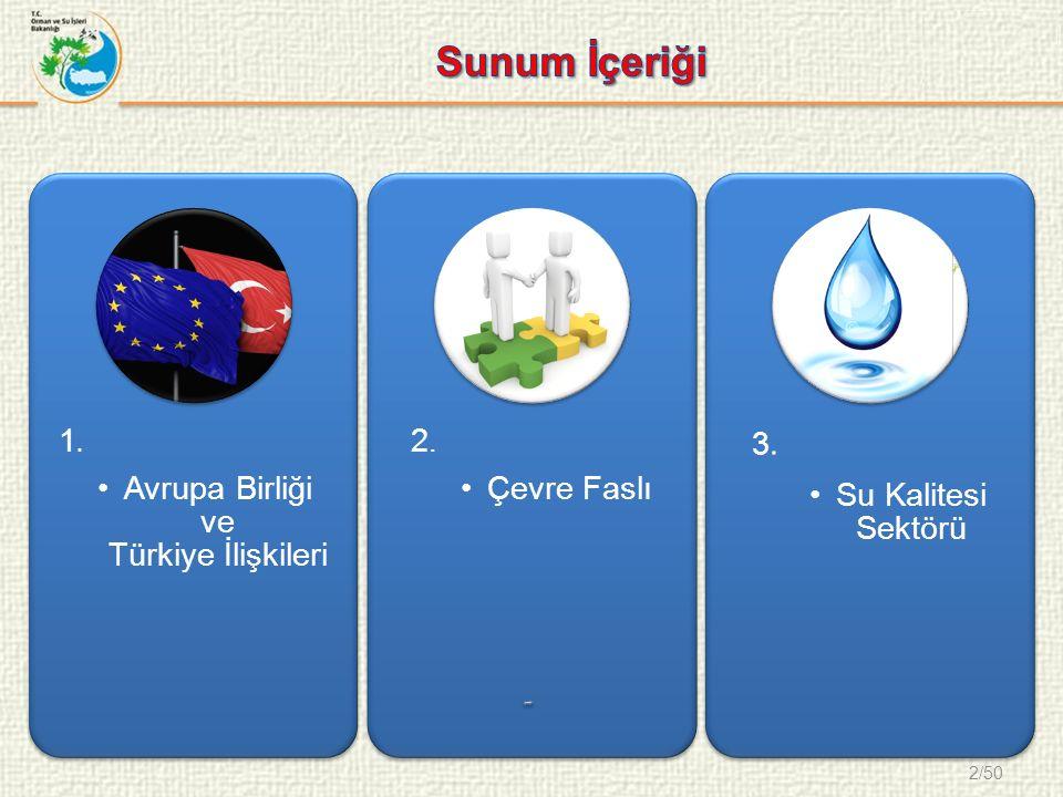 2/50 1. Avrupa Birliği ve Türkiye İlişkileri 2. Çevre Faslı 3. Su Kalitesi Sektörü