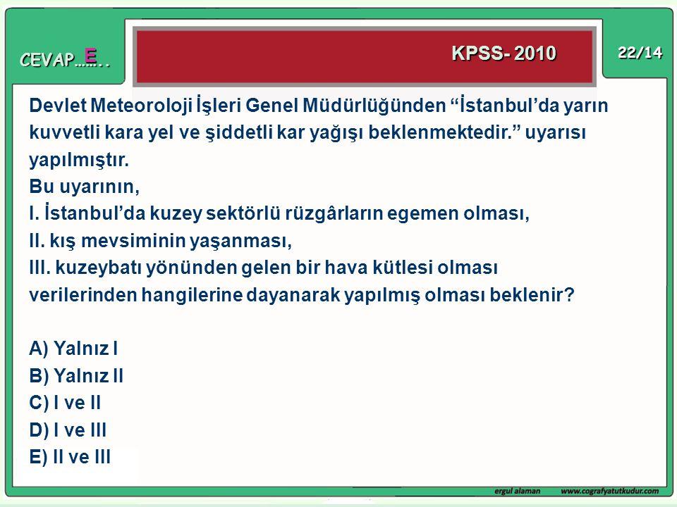 """22/14 Devlet Meteoroloji İşleri Genel Müdürlüğünden """"İstanbul'da yarın kuvvetli kara yel ve şiddetli kar yağışı beklenmektedir."""" uyarısı yapılmıştır."""