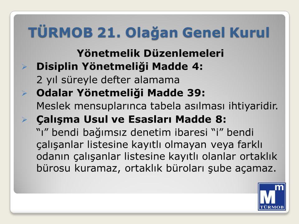 TÜRMOB 21.