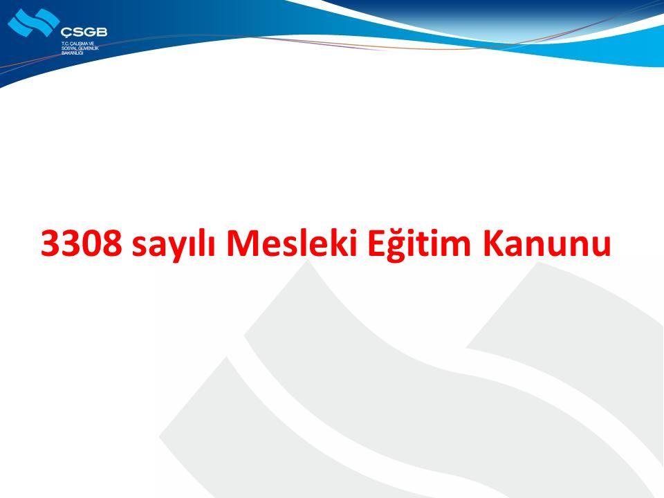 3308 sayılı Mesleki Eğitim Kanunu