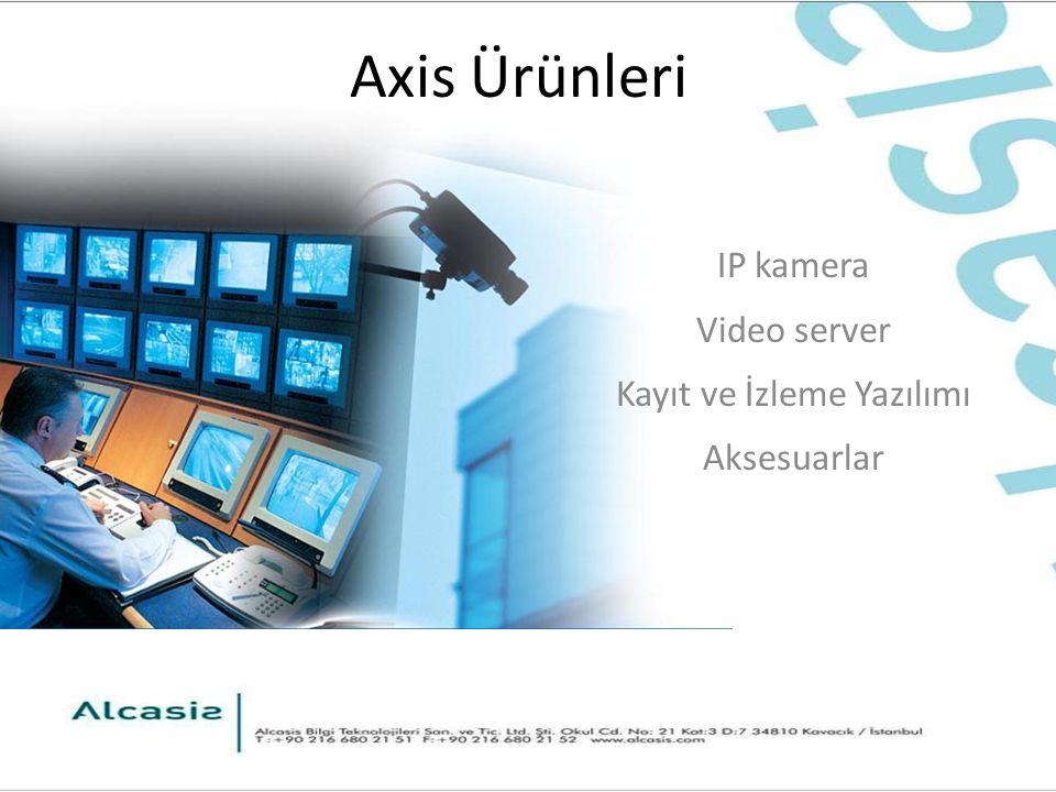 Axis Ürünleri IP kamera Video server Kayıt ve İzleme Yazılımı Aksesuarlar