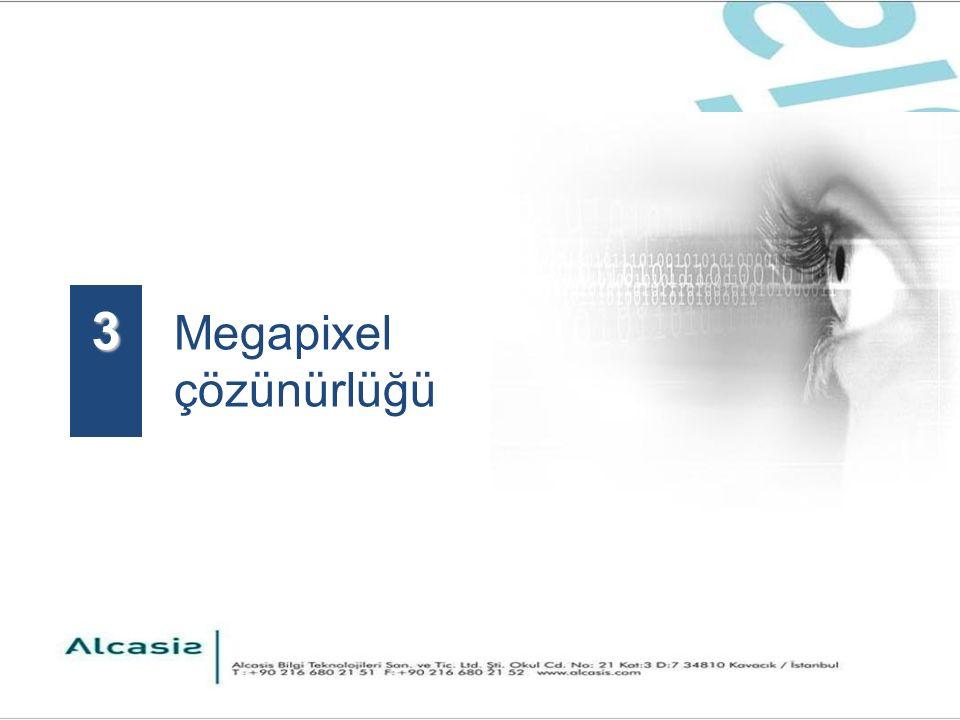 Megapixel çözünürlüğü 3