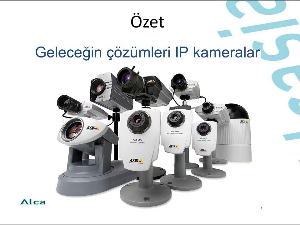 Özet Geleceğin çözümleri IP kameralar