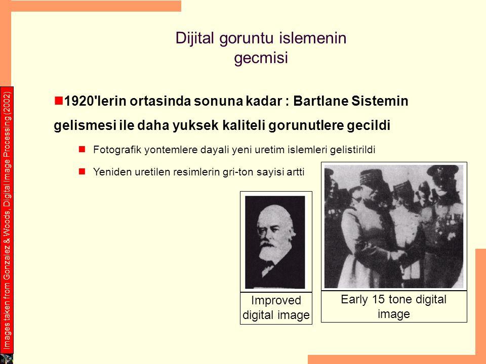 1920'lerin ortasinda sonuna kadar : Bartlane Sistemin gelismesi ile daha yuksek kaliteli gorunutlere gecildi Fotografik yontemlere dayali yeni uretim