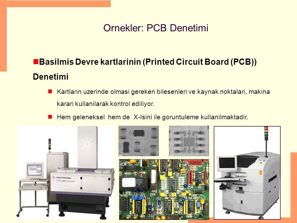 Ornekler: PCB Denetimi Basilmis Devre kartlarinin (Printed Circuit Board (PCB)) Denetimi Kartlarin uzerinde olmasi gereken bilesenleri ve kaynak nokta