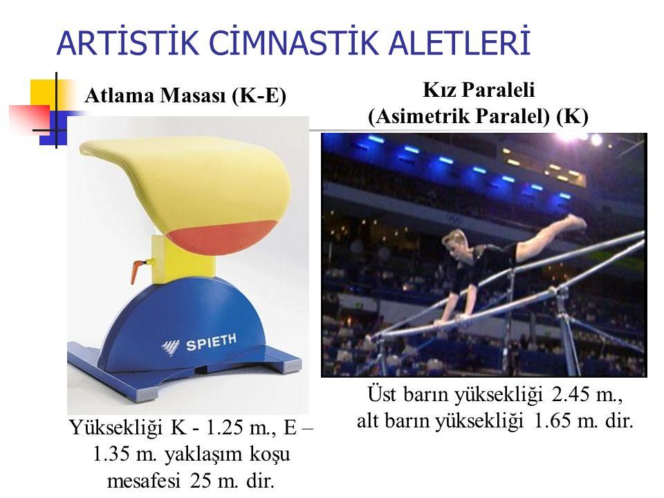 ARTİSTİK CİMNASTİK ALETLERİ Yüksekliği K - 1.25 m., E – 1.35 m.