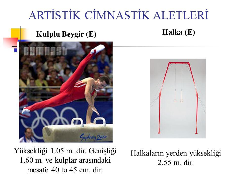 ARTİSTİK CİMNASTİK ALETLERİ Kulplu Beygir (E) Halka (E) Yüksekliği 1.05 m.