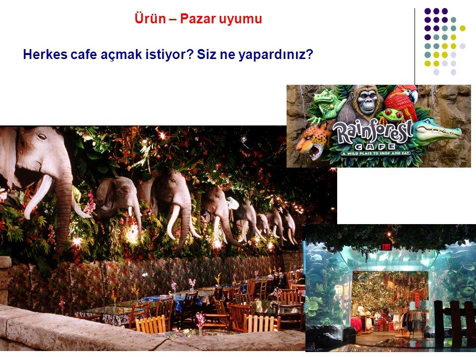 Herkes cafe açmak istiyor Siz ne yapardınız Ürün – Pazar uyumu