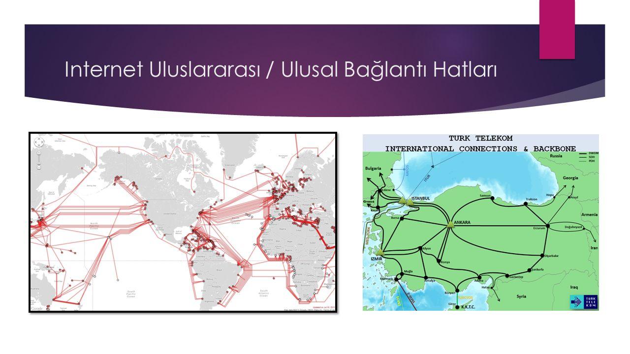 Internet Uluslararası / Ulusal Bağlantı Hatları