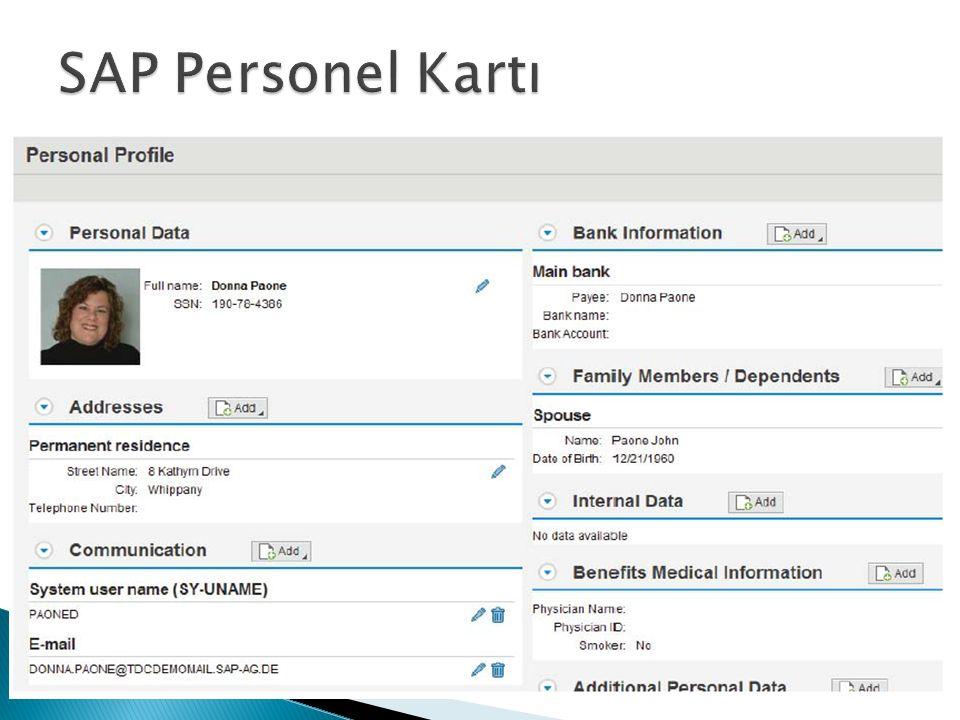  Kişisel bilgilerinizi göz önünde bulundurarak, bir personel kartında hangi bilgilerin yer alması gerektiğini düşünün.