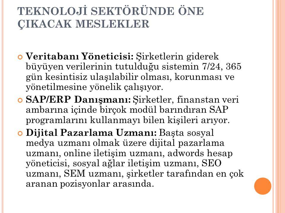 HAREKETLİLİK YAŞANACAK SEKTÖRLER Avrupa Birliği ve Avrupa Birliği İlişkileri Uzmanı : Avrupa Birliği'nin oluşum süreci, üye ülkelerin birlikten beklentileri, birliğin kurumları ve politikaları ile genişleme sürecine hakim ve Türkiye ile AB arasında ilişkilerin başlangıcından bugüne kadar gelinen gelişim süreci ve ilişkilerin bugün vardığı düzey ve devamlılığı konusunda eğitim alan uzmanlara; Türkiye'nin 14 Nisan 1987 'de Avrupa Birliğine tam üyelik başvurusu, Türkiye'nin 6.3.1995 tarihli, 1/95 ve 2/95 sayılı ortaklık konseyi kararları doğrultusunda, Avrupa Topluluğu ile 1.1.1996 tarihinden itibaren Gümrük Birliğine girmesinden sonra artan ihtiyaç 2004 yılında başlayan tam üyelik müzakereleri ile tavan yapmıştır.