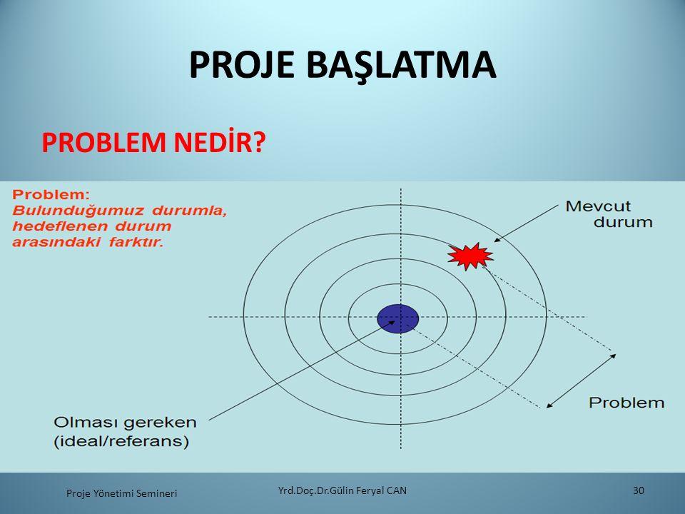 PROJE BAŞLATMA PROBLEM NEDİR? Yrd.Doç.Dr.Gülin Feryal CAN30 Proje Yönetimi Semineri