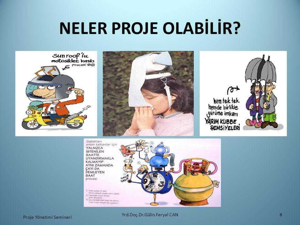 PROJE ORGANİZASYONU VE HAZIRLIĞI Yrd.Doç.Dr.Gülin Feryal CAN39 Proje Yönetimi Semineri