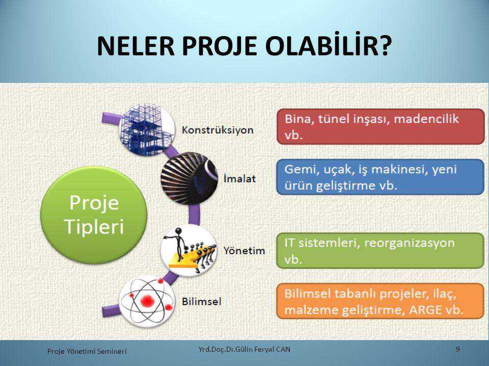 NELER PROJE OLABİLİR? Yrd.Doç.Dr.Gülin Feryal CAN9 Proje Yönetimi Semineri