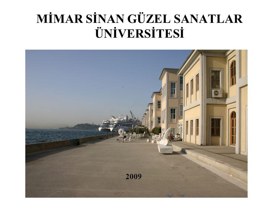 MİMAR SİNAN GÜZEL SANATLAR ÜNİVERSİTESİ 2009