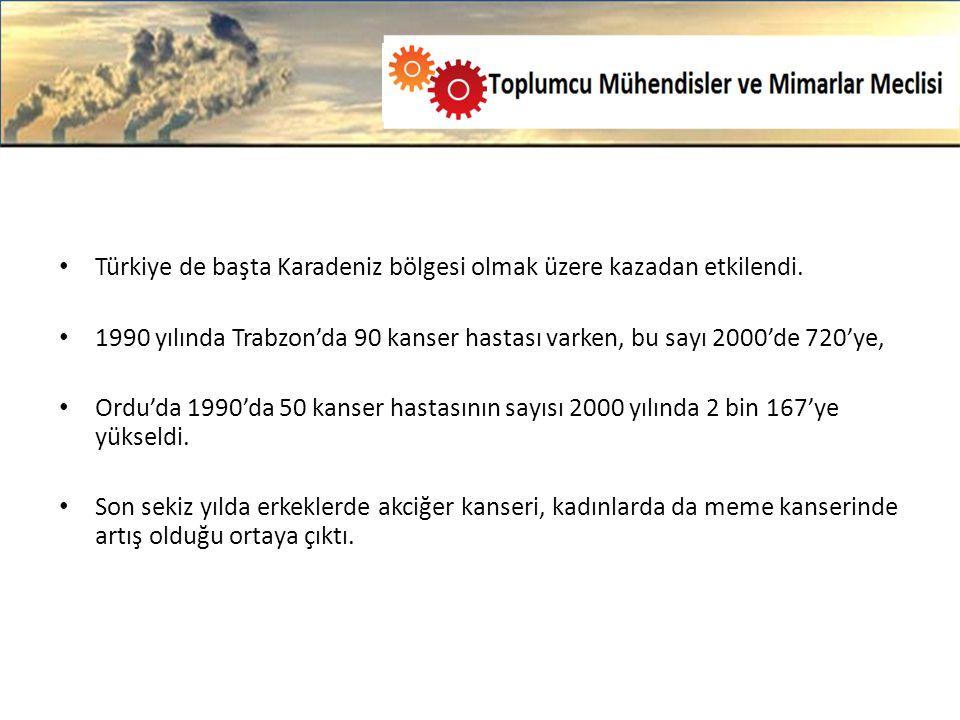 Türkiye de başta Karadeniz bölgesi olmak üzere kazadan etkilendi.