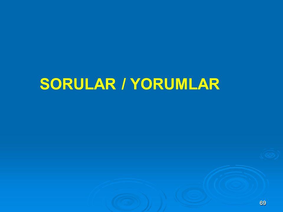 69 SORULAR / YORUMLAR