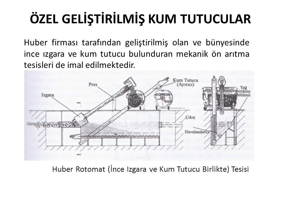 Huber Rotomat (İnce Izgara ve Kum Tutucu Birlikte) Tesisi ÖZEL GELİŞTİRİLMİŞ KUM TUTUCULAR Huber firması tarafından geliştirilmiş olan ve bünyesinde i