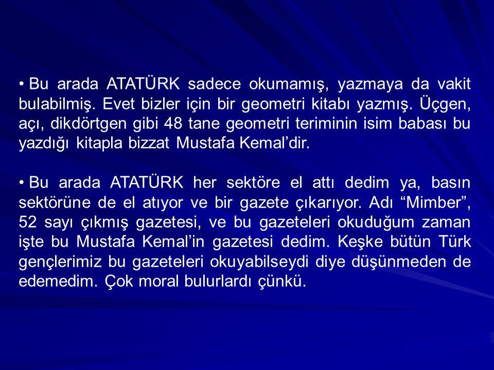 Dedim ki bu sözü okuyunca, keşke şu karga kovalamasını kafalarımıza yerleştireceklerine şu sözünü yerleştirselerdi herhalde Türkiye çok farklı bir yerde olurdu şu anda.