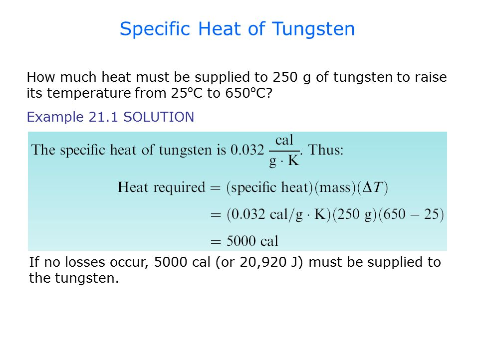 Example: SOLUTION If only the enamel heated (and the steel remained at a constant temperature), the maximum temperature change would be: However, the steel also expands.