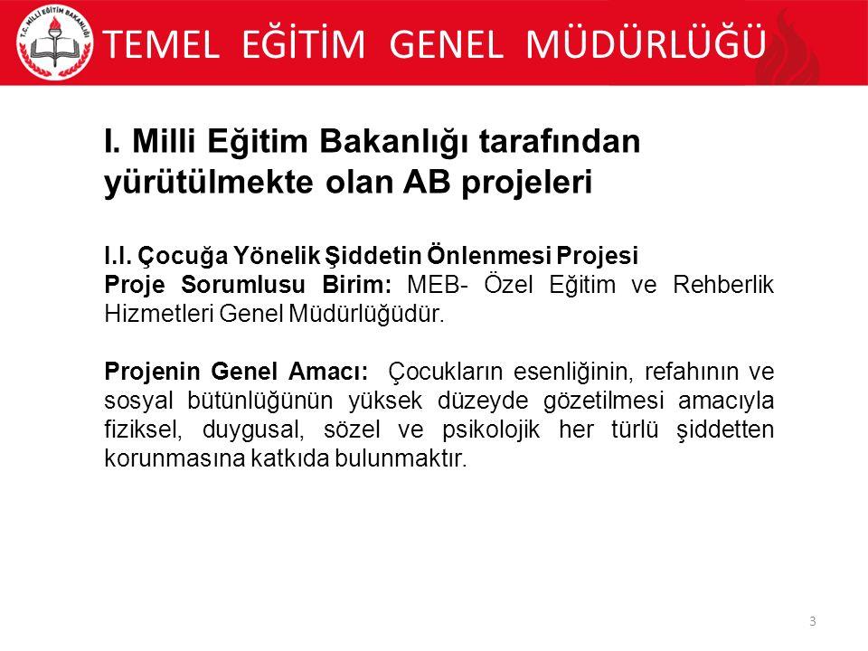 TEMEL EĞİTİM GENEL MÜDÜRLÜĞÜ 14 II.