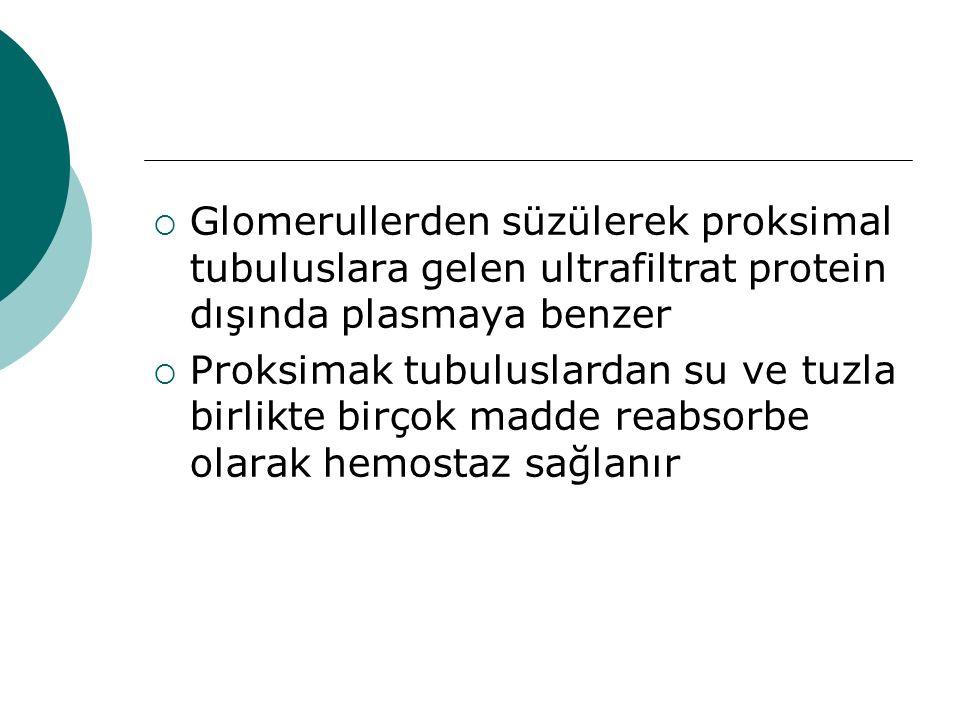  Distal tubulus emilimi normal  Distal tubulus işlevlerinde bozulma yok