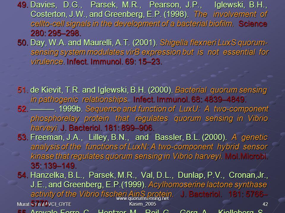 42Murat Kemal AVCI_GYTE www.quorumsensing.net Kasım_2005 49.