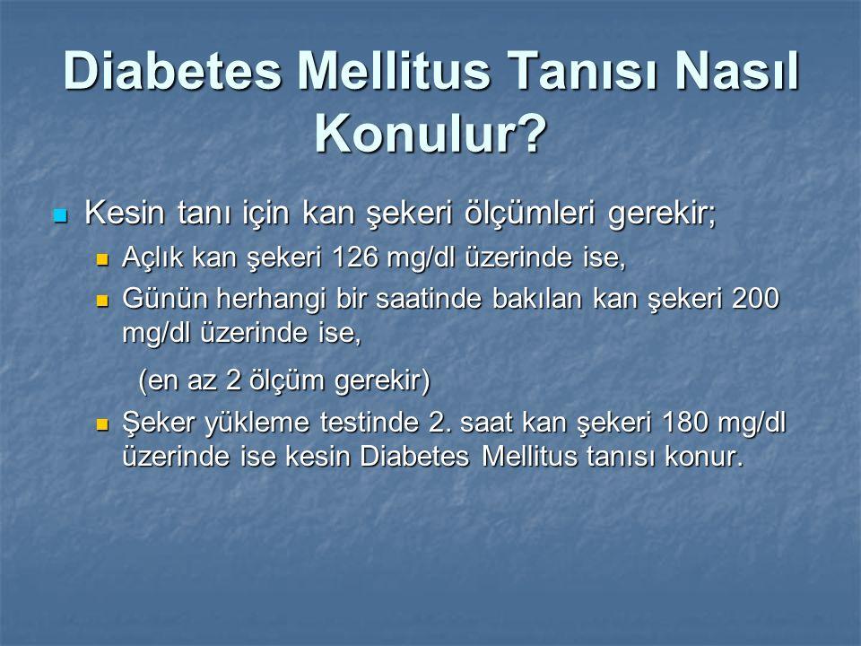 Diabetes Mellitus Tanısı Nasıl Konulur? Kesin tanı için kan şekeri ölçümleri gerekir; Kesin tanı için kan şekeri ölçümleri gerekir; Açlık kan şekeri 1