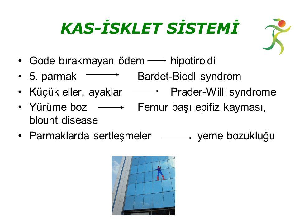 KAS-İSKLET SİSTEMİ Gode bırakmayan ödem hipotiroidi 5.