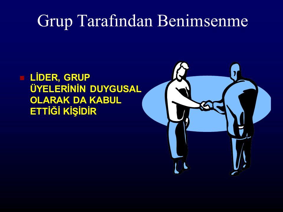 Grup Lider grupla vardır Bir kişinin lider olup olmadığını anlamak için onu izleyenlerin var olup olmadığına bakılır
