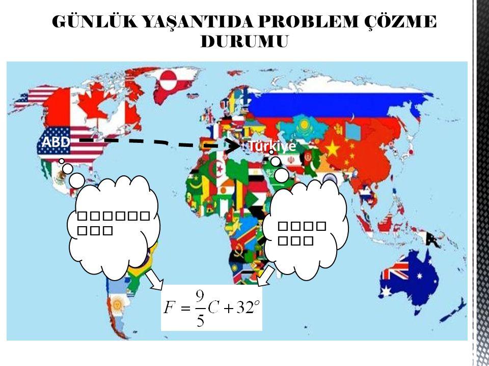 GÜNLÜK YAŞANTIDA PROBLEM ÇÖZME DURUMU ABD Türkiye FAHREN AYT CELC IUS