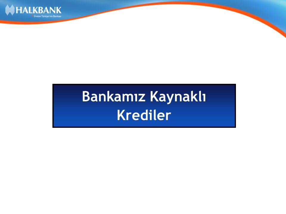 Bankamız Kaynaklı Krediler