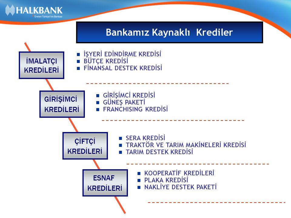 TL/YP Orta ve Uzun vadeli kredilerimiz – İşletme Kredisi 1 yıl ödemesiz 4 yıl vade, – Yatırım Kredisi 2 yıl ödemesiz 7 yıl vade ile kullandırılmaktadır  Bankamızca KOBİ'lere kullandırılan kredilerde Vergi İstisnası (% 5 BSMV) uygulanmaktadır.