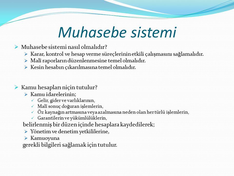 Muhasebe sistemi  Muhasebe sistemi nasıl olmalıdır.