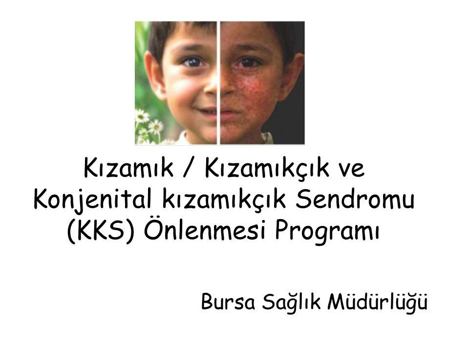 Kızamık / Kızamıkçık ve Konjenital kızamıkçık Sendromu (KKS) Önlenmesi Programı Bursa Sağlık Müdürlüğü