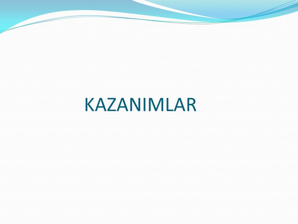 1. SINIF KAZANIMLARI