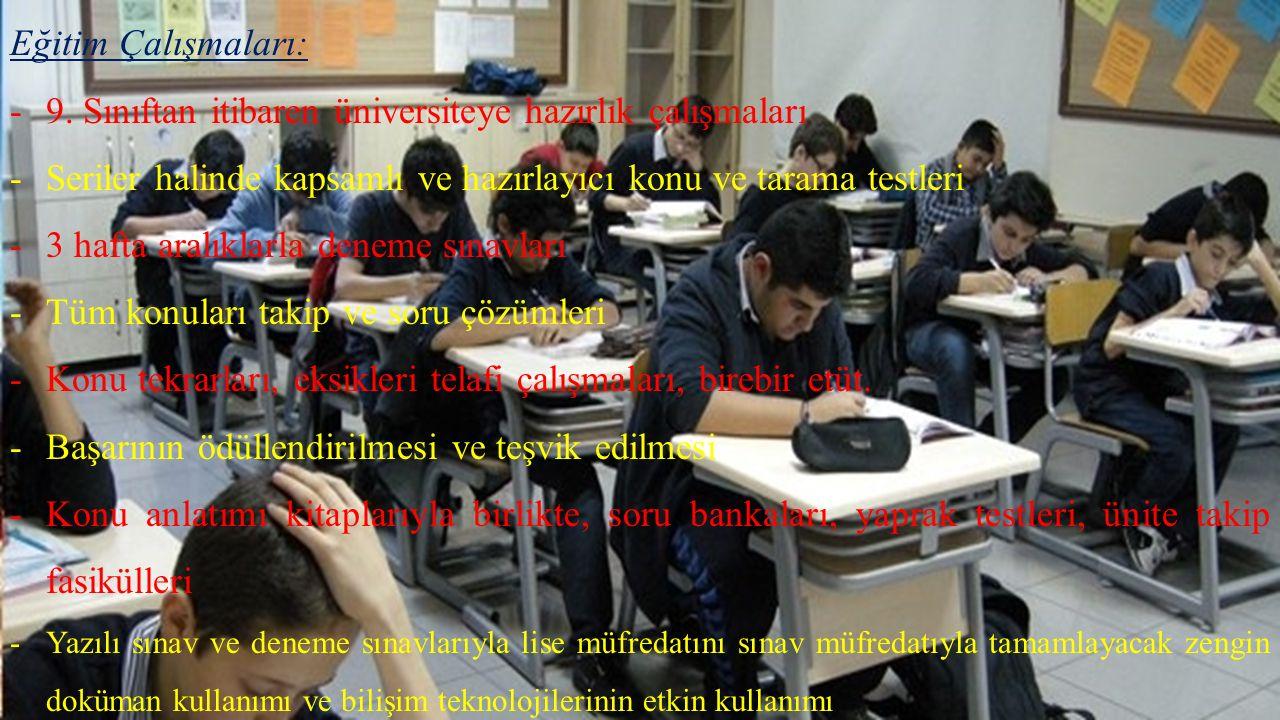 Eğitim Çalışmaları: -9.