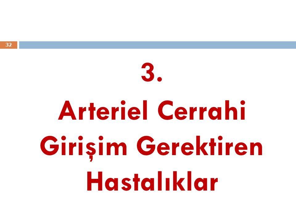3. Arteriel Cerrahi Girişim Gerektiren Hastalıklar 32