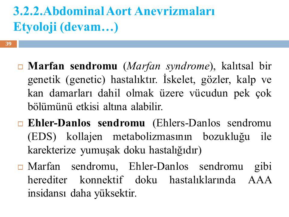  Marfan sendromu (Marfan syndrome), kalıtsal bir genetik (genetic) hastalıktır. İskelet, gözler, kalp ve kan damarları dahil olmak üzere vücudun pek