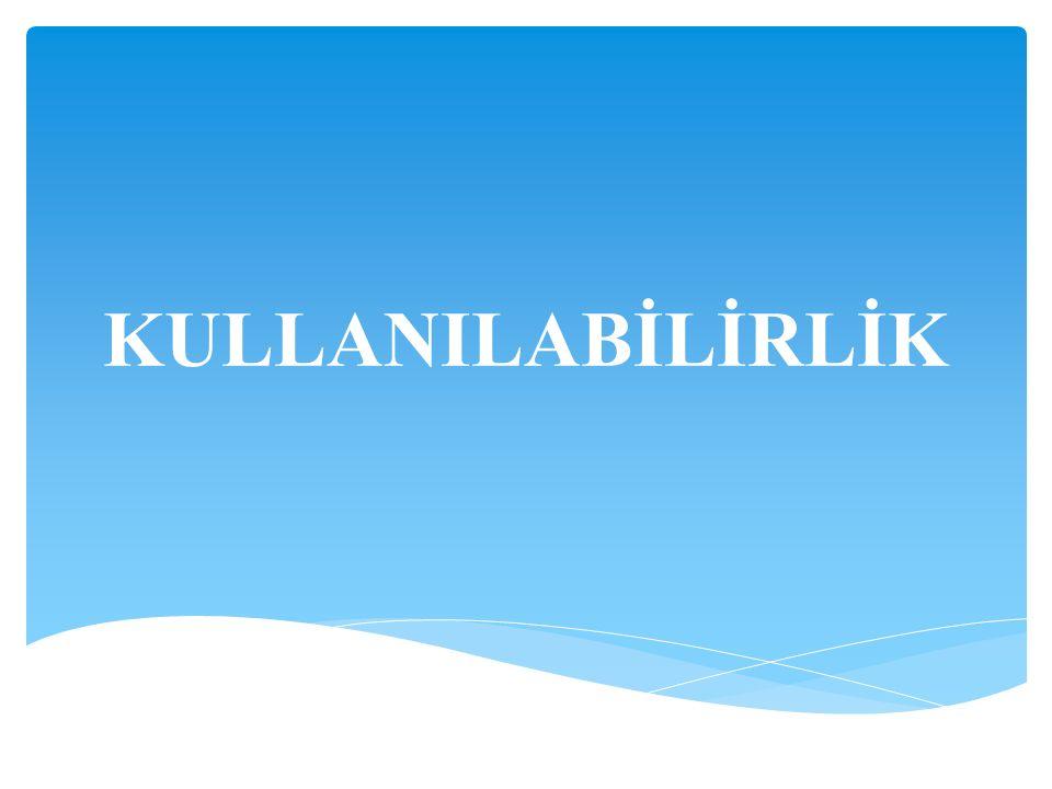KULLANILABİLİRLİK