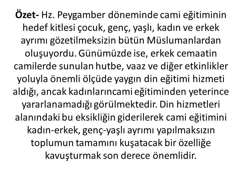 Özet- Hz.