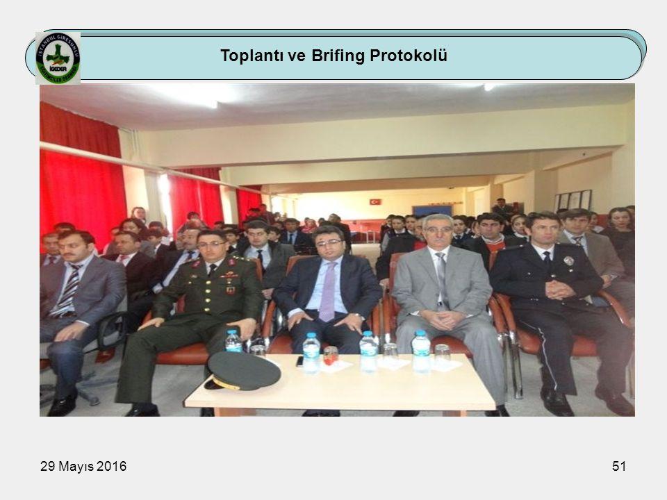 29 Mayıs 201651 Toplantı ve Brifing Protokolü