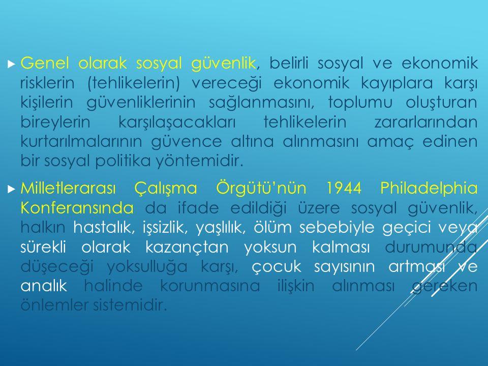 BÖLÜM VI / İŞ KAZALARIYLA MESLEK HASTALIKLARI HALİNDE YAPILACAK YARDIMLAR  MADDE 32 1.