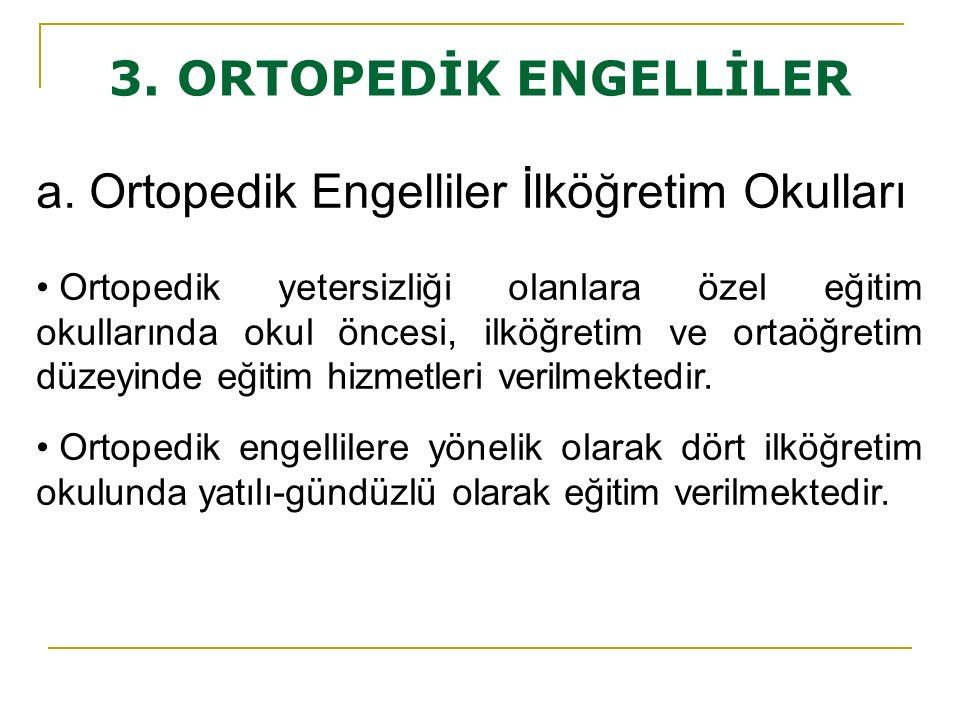3. ORTOPEDİK ENGELLİLER a.