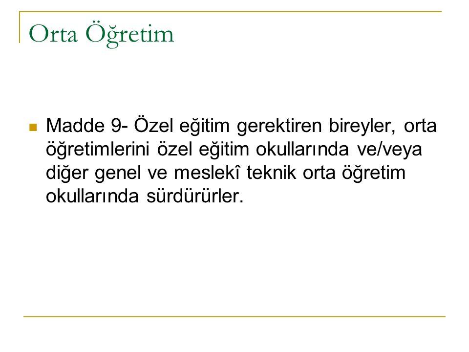 ÖZEL EĞİTİM KURUMLARI 1.