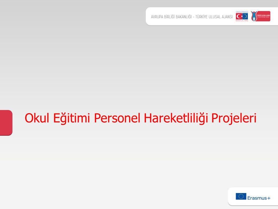 1 Okul Eğitimi Personel Hareketliliği Projeleri