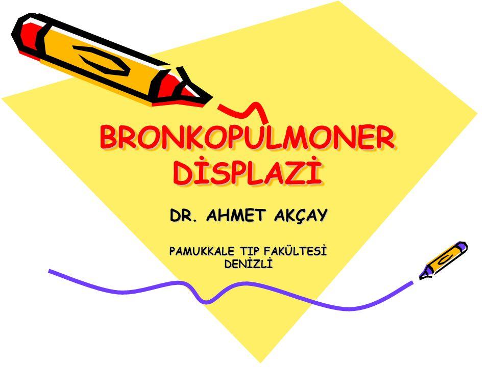 BRONKOPULMONER DİSPLAZİ DR. AHMET AKÇAY PAMUKKALE TIP FAKÜLTESİ DENİZLİ