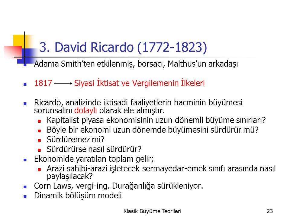 23Klasik Büyüme Teorileri23 3.